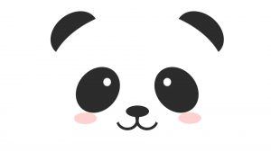Attachment for 37 Cute Stuff Wallpapers - Simple Panda Face