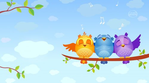 Attachment for 37 Cute Stuff Wallpapers - Singing Birds