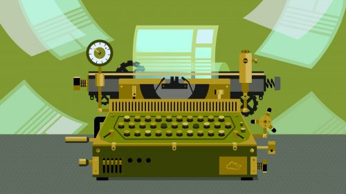 Free Computer Backgrounds 1 of 18 - Old Typewriter Machine