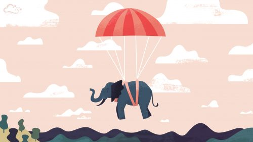 Attachment of Computer Backgrounds 3 of 18 - Flying Elephant
