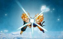 Attachment for Dragon Ball Z Wallpaper 19 of 49 - Goten and Trunks Kamehame