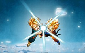 Attachment for Dragon Ball Z Wallpaper 19 of 49 - Goten and Trunks Kamehameha