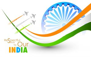 Flags of Countries - Three colors as Flags of India Symbol - respectful salute