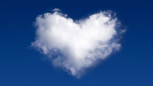 Attachment for Heart Shaped Cloud 1 of 57 for Cool Backgrounds