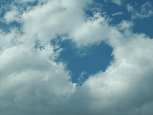 Attachment for Heart Shaped Cloud 12 of 57 with Heart Shape Hole in Sky