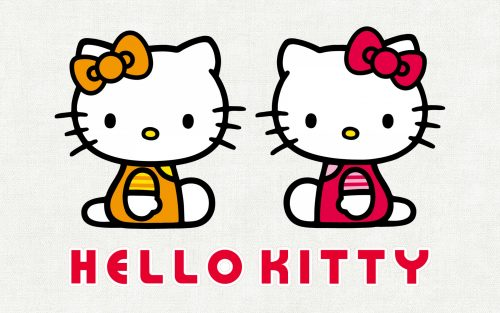 Hello Kitty Wallpaper - with her twin sister Mimmy