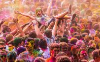 Holi festival celebration in Europe and America