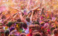 Holi festival celebration in Europe and America
