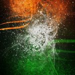 Free download of India Flag for Mobile Phone Wallpaper 17 of 17 - Artistic Tricolor