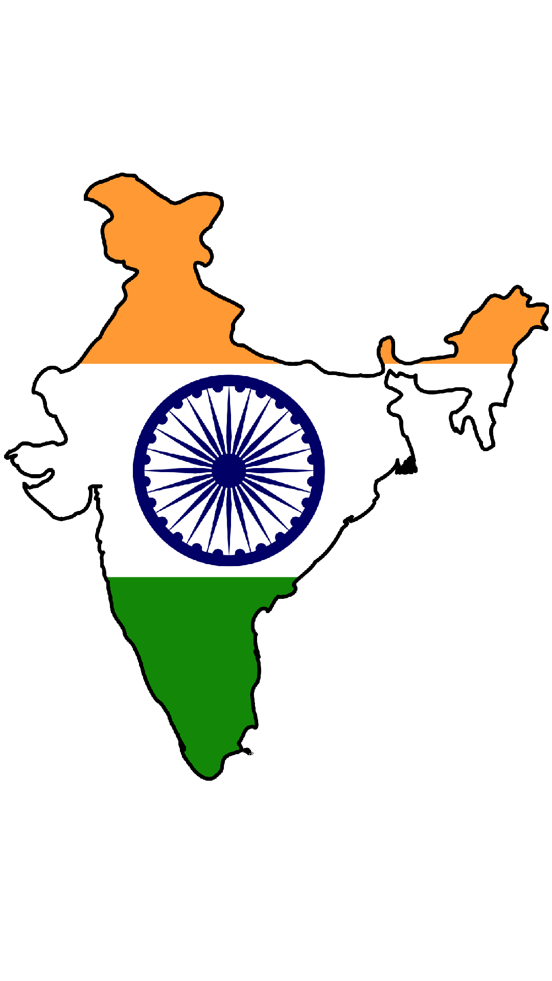 Pin India-flag-map on Pinterest
