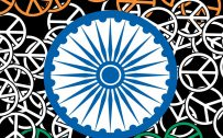 India Flag for Mobile Phone Wallpaper 5 of 17 - Abstract Flag with Peace Symbol