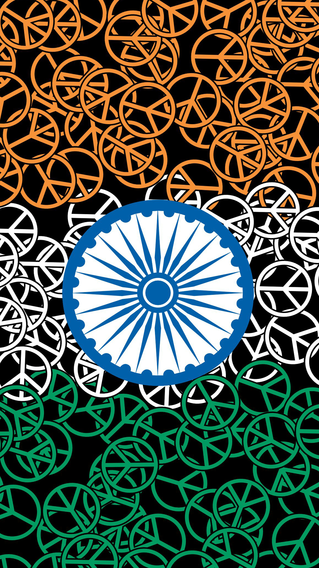 India Flag for Mobile Phone Wallpaper 05 of 17 Abstract Flag with Peace Symbol HD Wallpapers ...