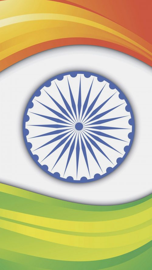 India Flag for Smartphones Wallpaper 7 of 17 - Tiranga Wave