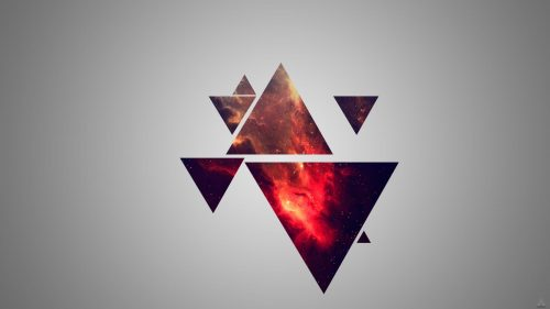 Attachment for Laptop Backgrounds with Random Triangle