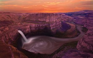 File attachment for Nature Backgrounds Download - Canyon Waterfall 03101401 High Resolution Wallpaper