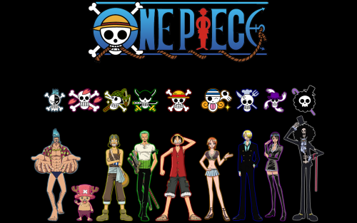 Attachment file for One Piece Wallpaper - All Straw Hat Pirates Characters in Black Background