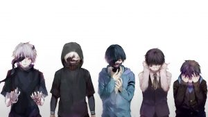 Attachment file to download for Cool wallpaper of Tokyo Ghoul with Ken Kaneki Transformation in High Resolution