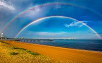 Double Rainbow in Staten Island South Beach