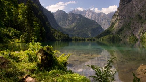 Free Download of HD Nature Wallpaper with Picture of Obersee Lake German