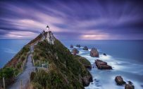 Long Exposure Photo of Nugget Point Lighthouse