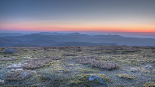 Sunrise in Wicklow Mountains for Desktop Wallpaper