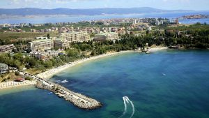 Beautiful beach in Nessebar Bulgaria