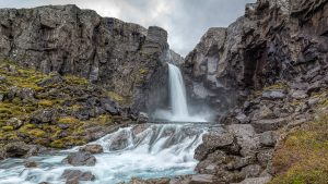 Folaldafoss Iceland waterfalls photo for wallpaper in HD