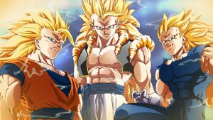 Dragon Ball Z Wallpaper 28 of 49 - Three Super Saiyan 3 in Close Up