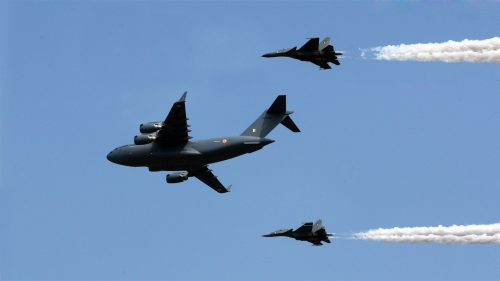 Indian Air Force Su-30 MKI and Boeing C-17 Globemaster III