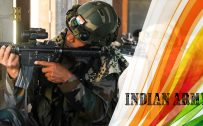 Indian Army Picture with Tiranga Color
