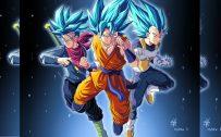 Trunks, Goku and Vegeta for Super Saiyan Wallpaper
