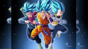 Trunks, Goku and Vegeta for Super Saiyan Wallpaper