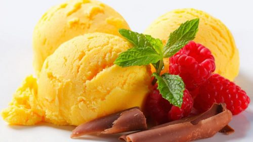 Picture of yellow ice cream for wallpaper
