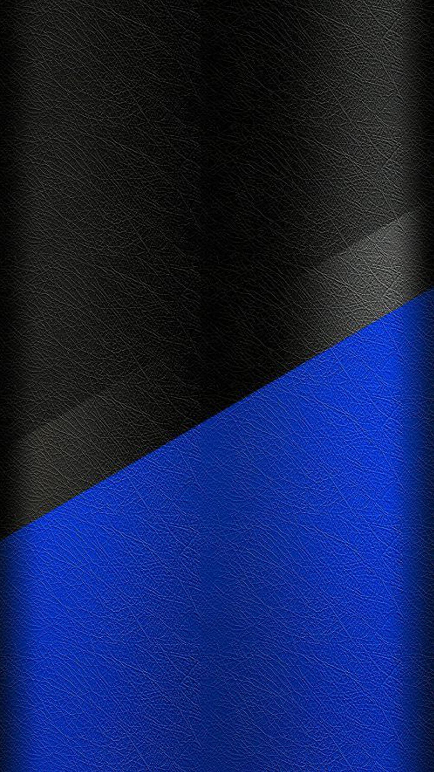 Dark S7 Edge Wallpaper 02 - Black and Blue Leather Pattern ...