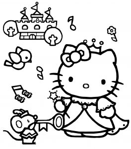 Hello Kitty Coloring Pages 06 Of 15 Princess