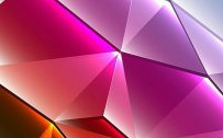 Cool Phone Wallpapers 01 with Colorful 3D Triangles