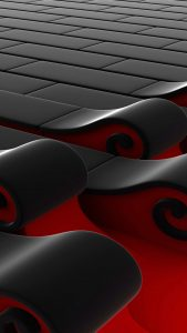 Cool Phone Wallpapers for Samsung Galaxy A8 Background with Red and Black 3D Bricks