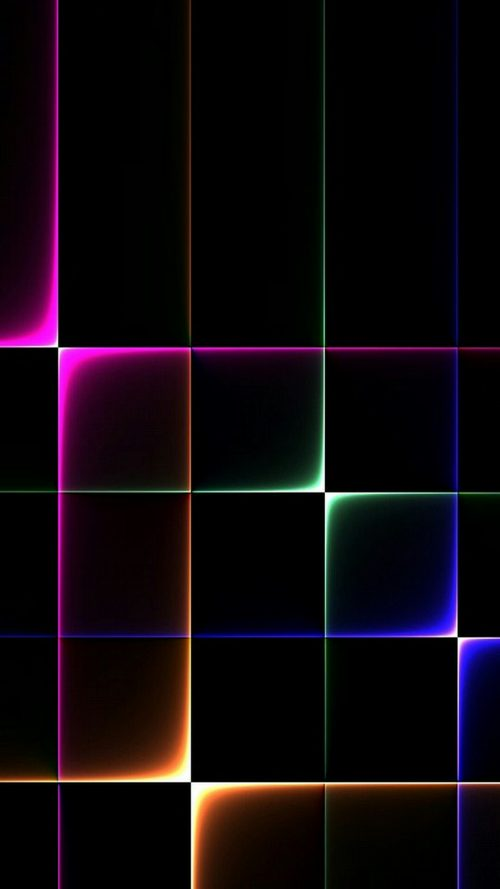 Cool Phone Wallpapers for Samsung Galaxy On8 background with Colorful Lights in Dark Squares