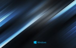Abstract Windows 10 background - diagonal blue lines