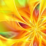 Abstract Windows 10 Background - Yellow Lights