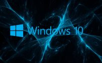 Abstract Windows 10 Background and Logo with Blue Grunge