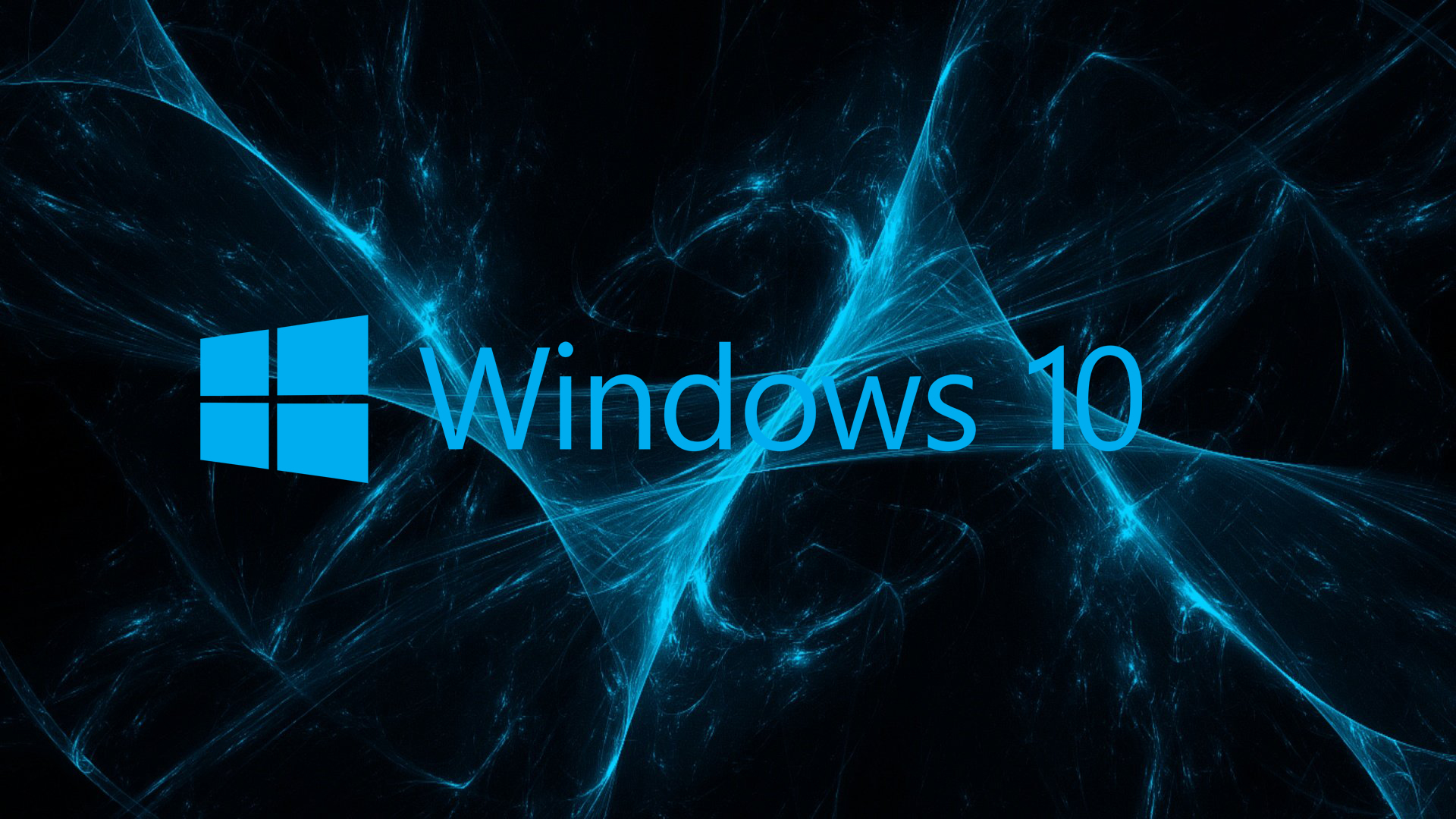 07 of 10 Abstract Windows 10 Background and Logo with Blue ...