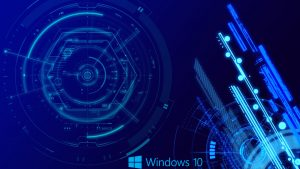 Abstract Windows 10 Background with Digital Art