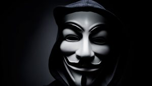 Anonymous Mask HD Wallpaper for Hacker Symbol in Close Up