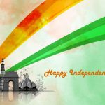 Free Download of Artistic Happy Independence Day Wallpaper with Indian Famous Buildings