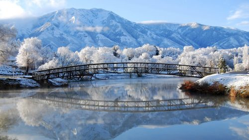 Free Download of Beautiful Scenery for Winter Wallpaper