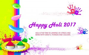 Free Download of Happy Holi 2017 Wallpaper in High Resolution