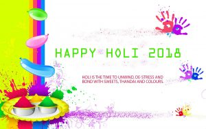 Happy Holi 2018 Wallpaper in High Resolution