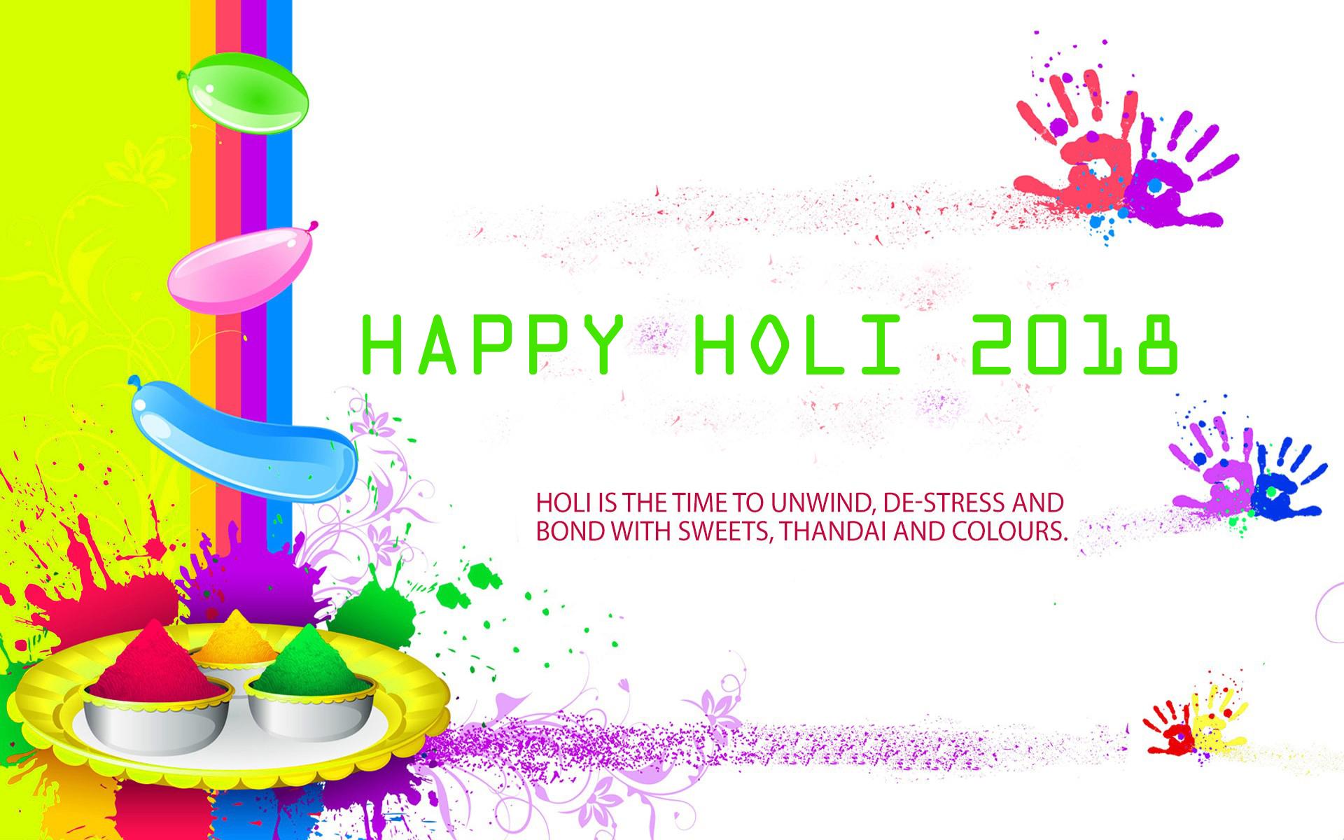 Happy Holi 2018 Wallpaper In High Resolution