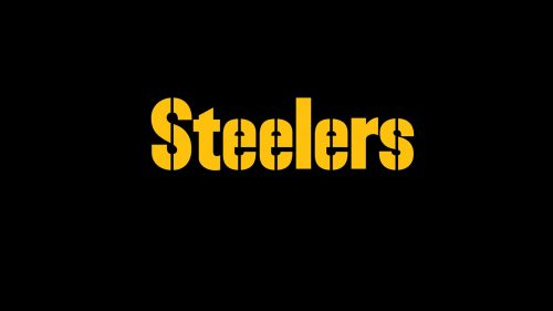 Steelers Text Wallpaper with Dark Background